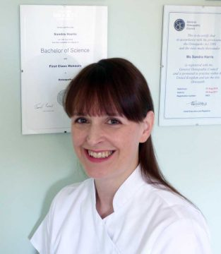 Osteopath and therapist Sandra Harris